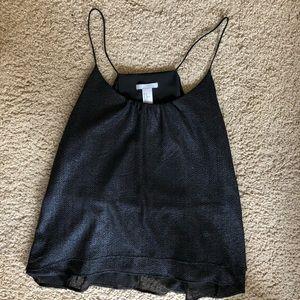 H&M Black Shimmer Flowy Tank Top